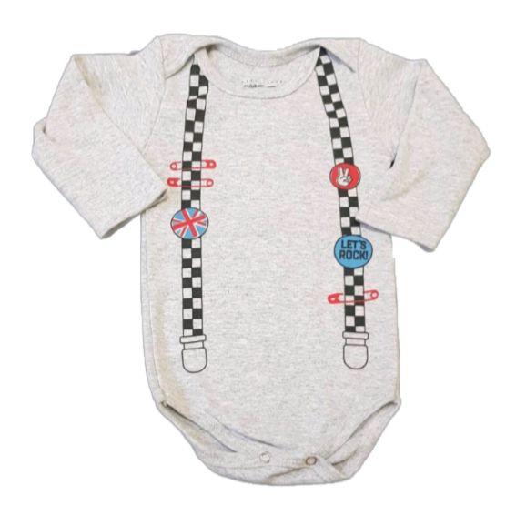 Body Broches Mescla Manga Longa Bebê