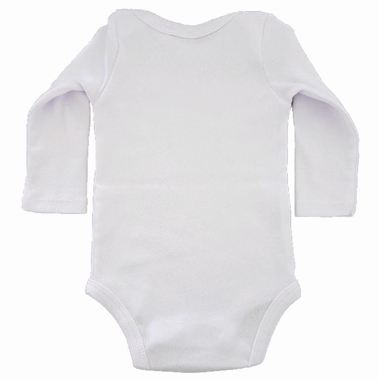 Body Cabana Indígena Branco Manga Longa Bebê