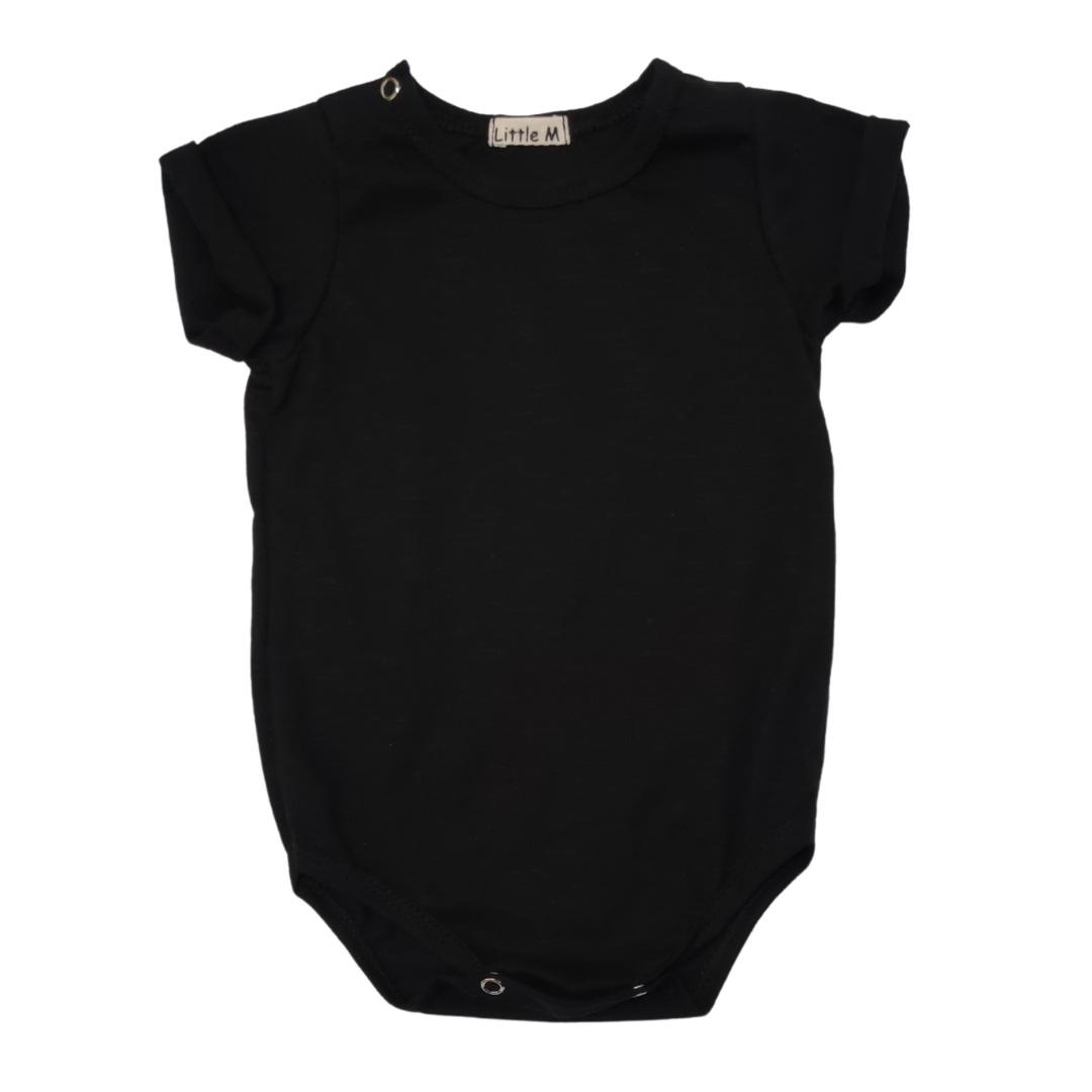 Body Cami Basic Preto Bebê