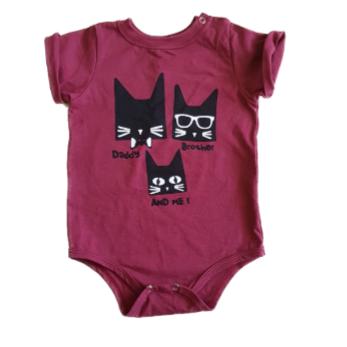 Body Camiseta Cats Bebê