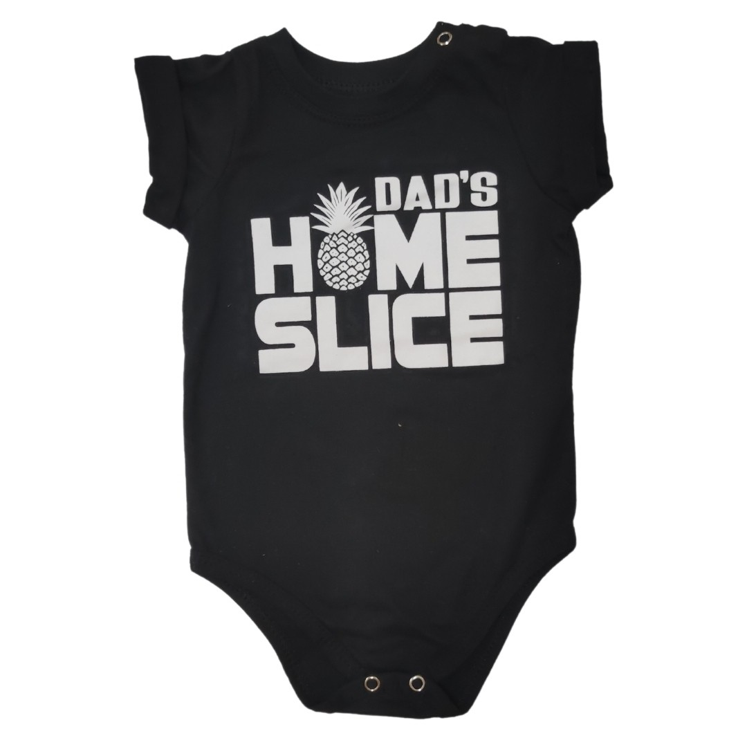 Body Camiseta DAD'S HOME SLICE Bebê