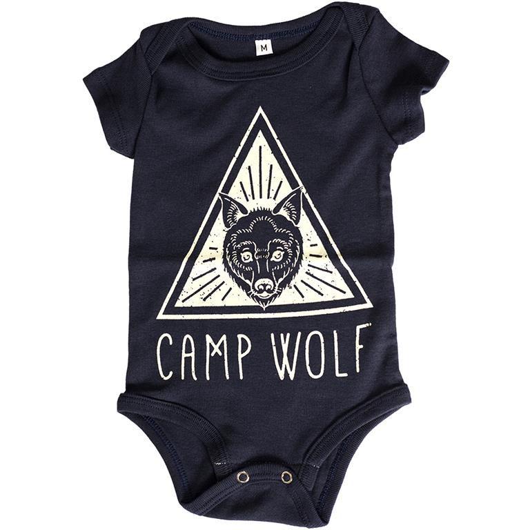 Body Camp Wolf Azul Marinho Bebê