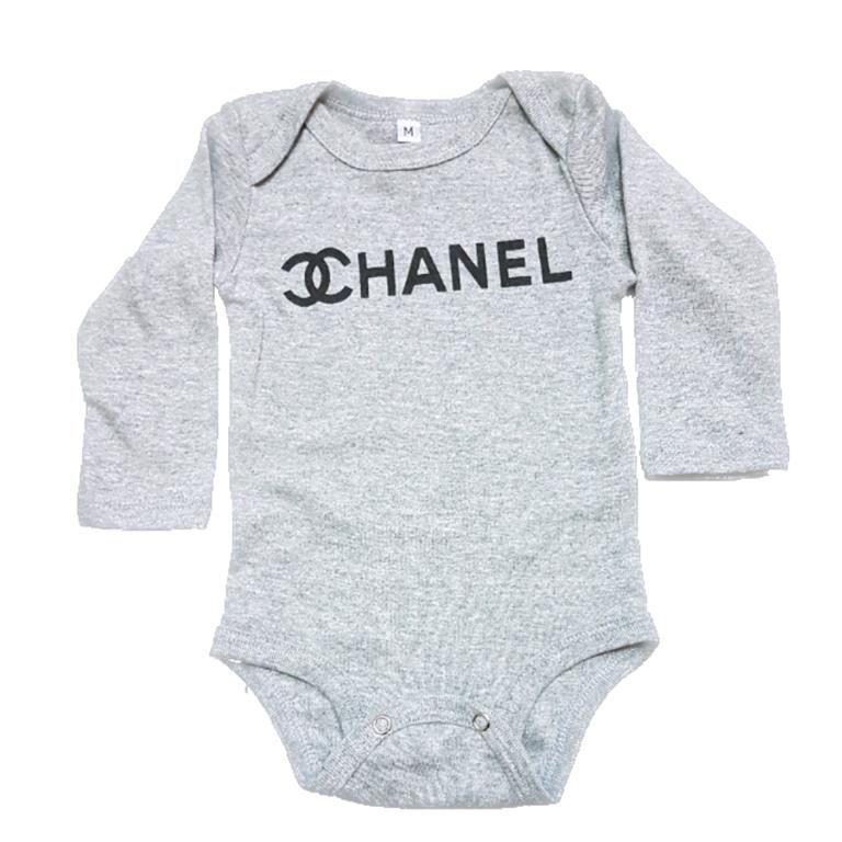 Body Chanel Manga Longa Bebê