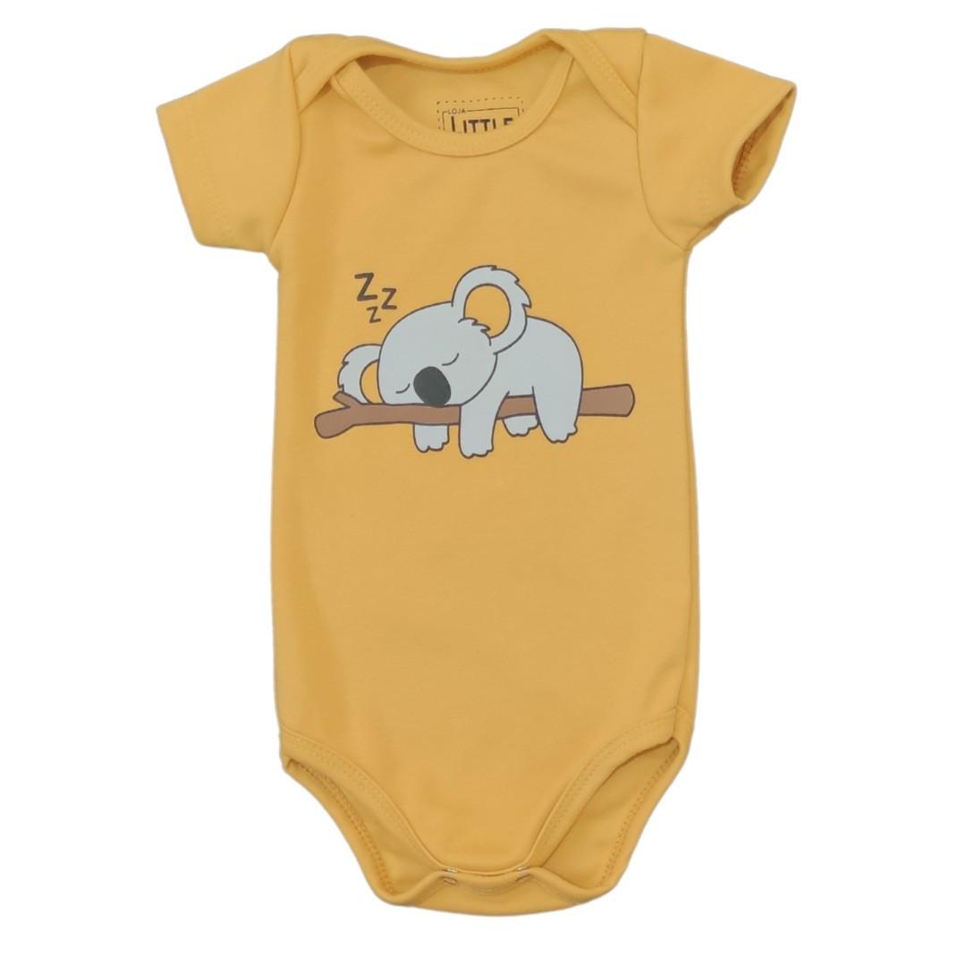 Body Coala Mostarda Bebê