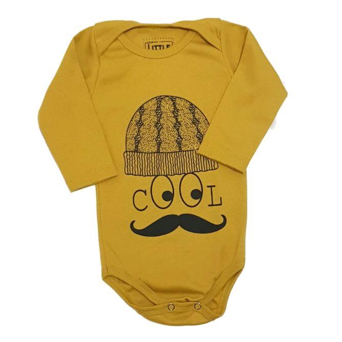 Body Cool Mostarda Manga Longa Bebê