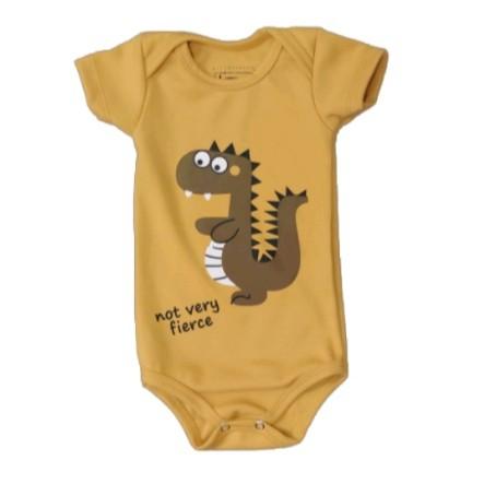 Body Dino Mostarda Bebê