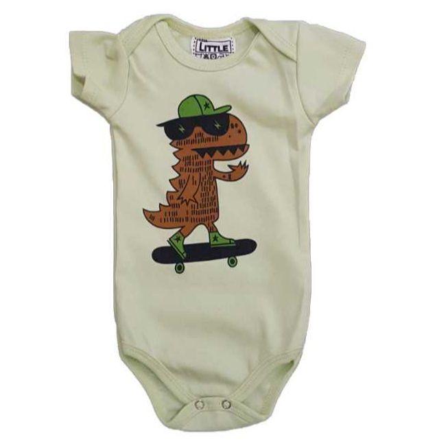 Body Dino Skatista Bebê