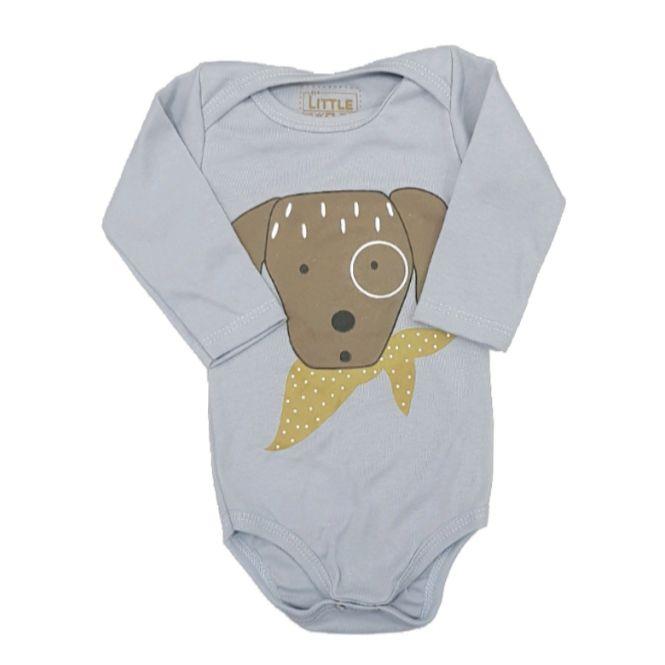 Body Dog Camponês Manga Longa Bebê