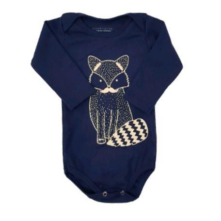 Body Fox Marinho Manga Longa Bebê