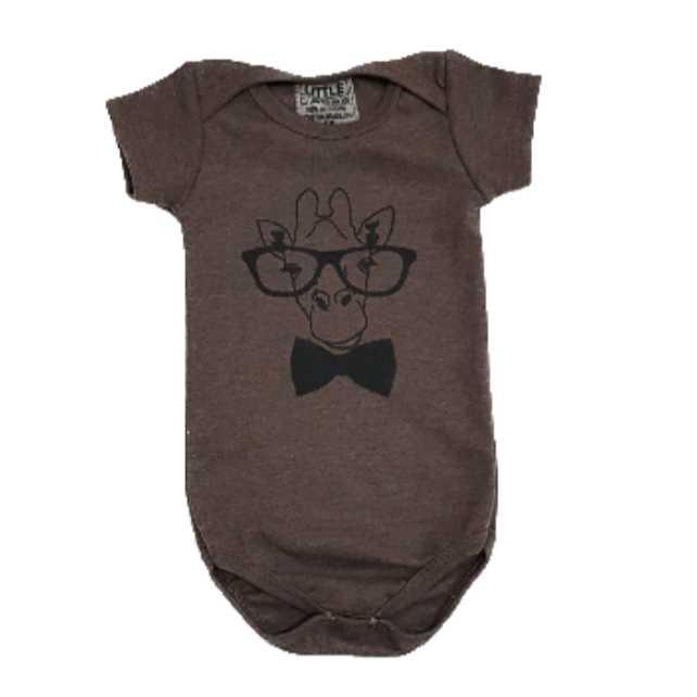 Body Girafa Geek Bebê