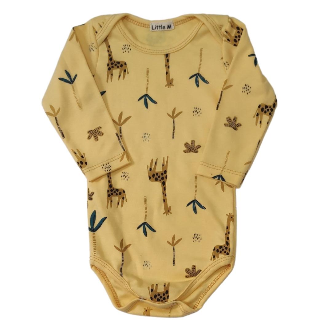 Body Girafinhas Manga Longa Bebê