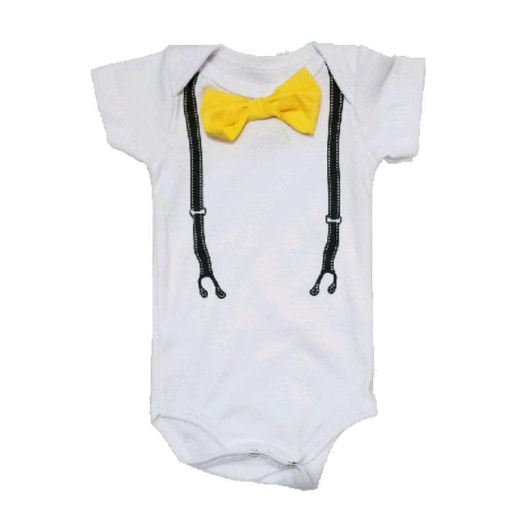 Body Gravatinha Amarela Bebê