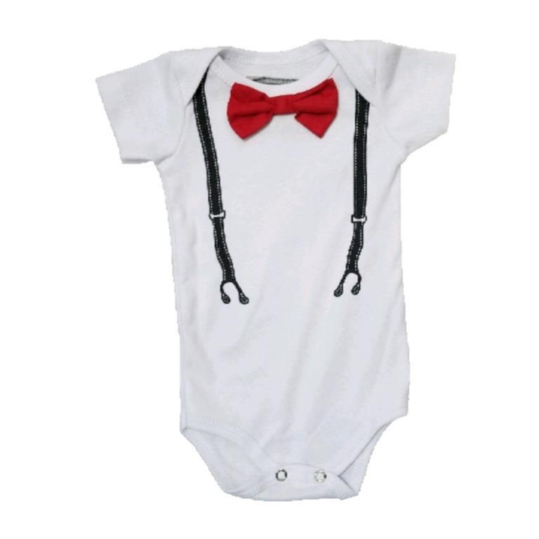 Body Gravatinha Vermelha Bebê