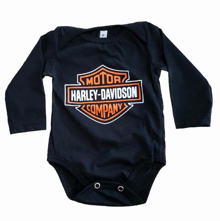 Body Harley Davidson Manga Longa Bebê