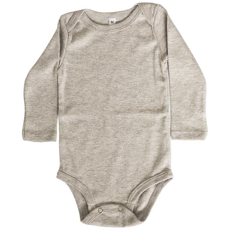 Body Liso Mescla Manga Longa Bebê