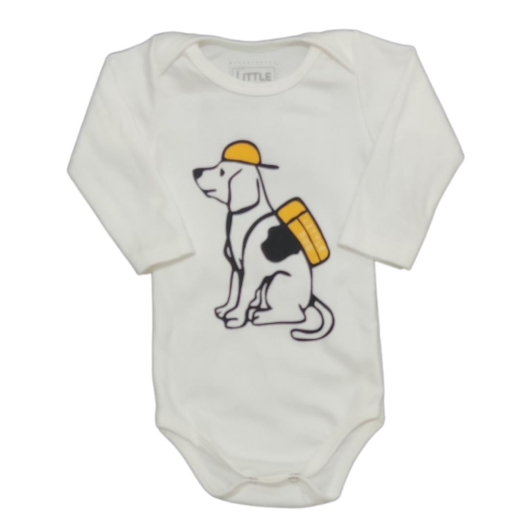 Body Little Dog Manga Longa Bebê