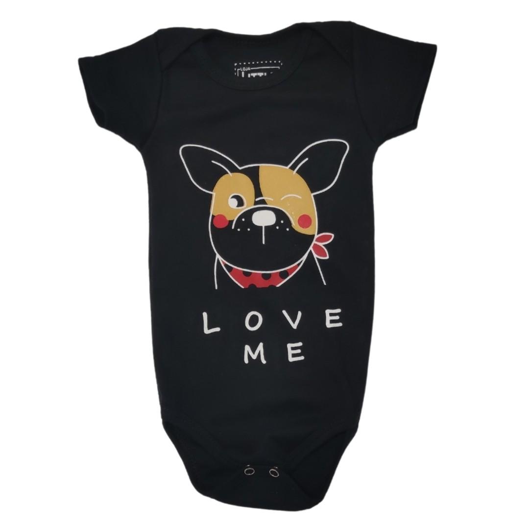 Body Love Me Preto Bebê