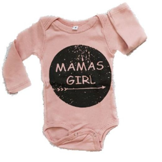 Body Mama's Girl Manga Longa Bebê