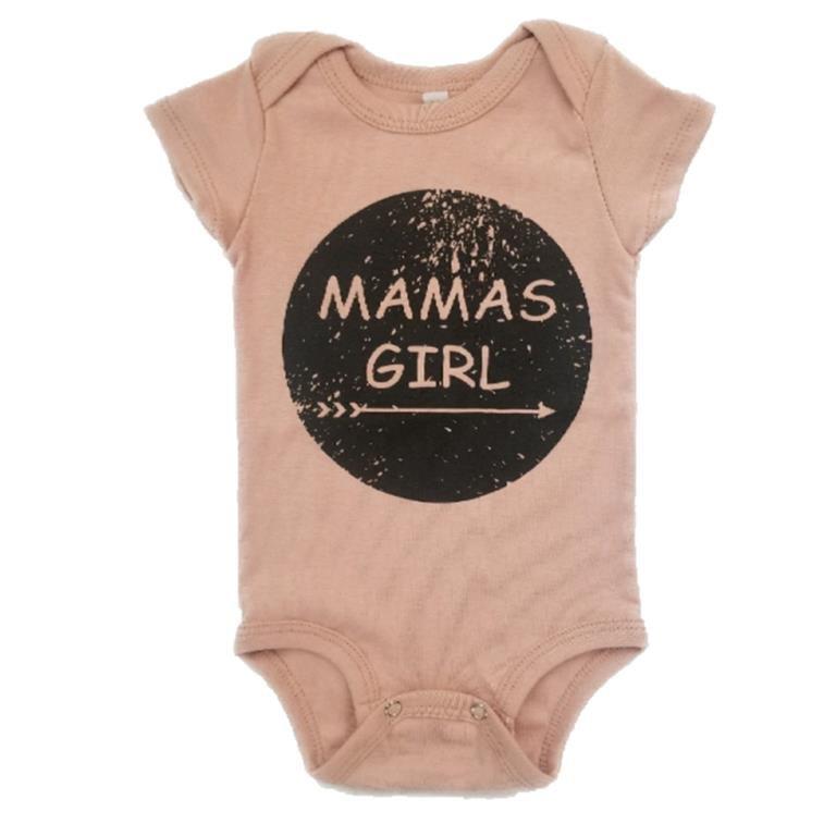 Body Mamas Girl Rosa Seco Bebê