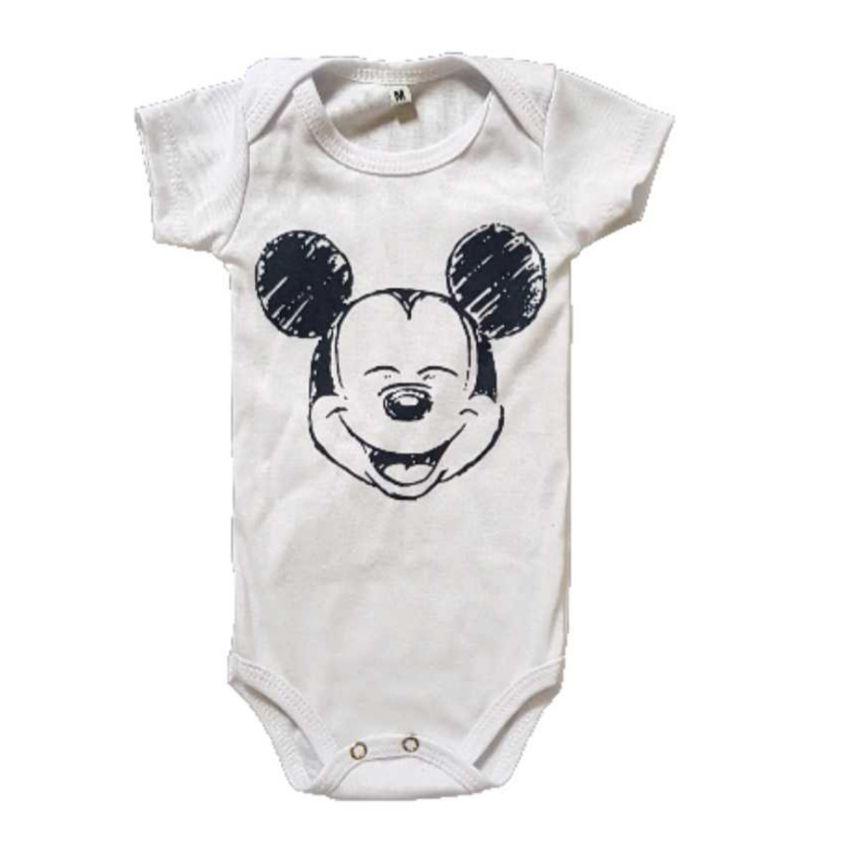 Body Mickey  Branco Bebê
