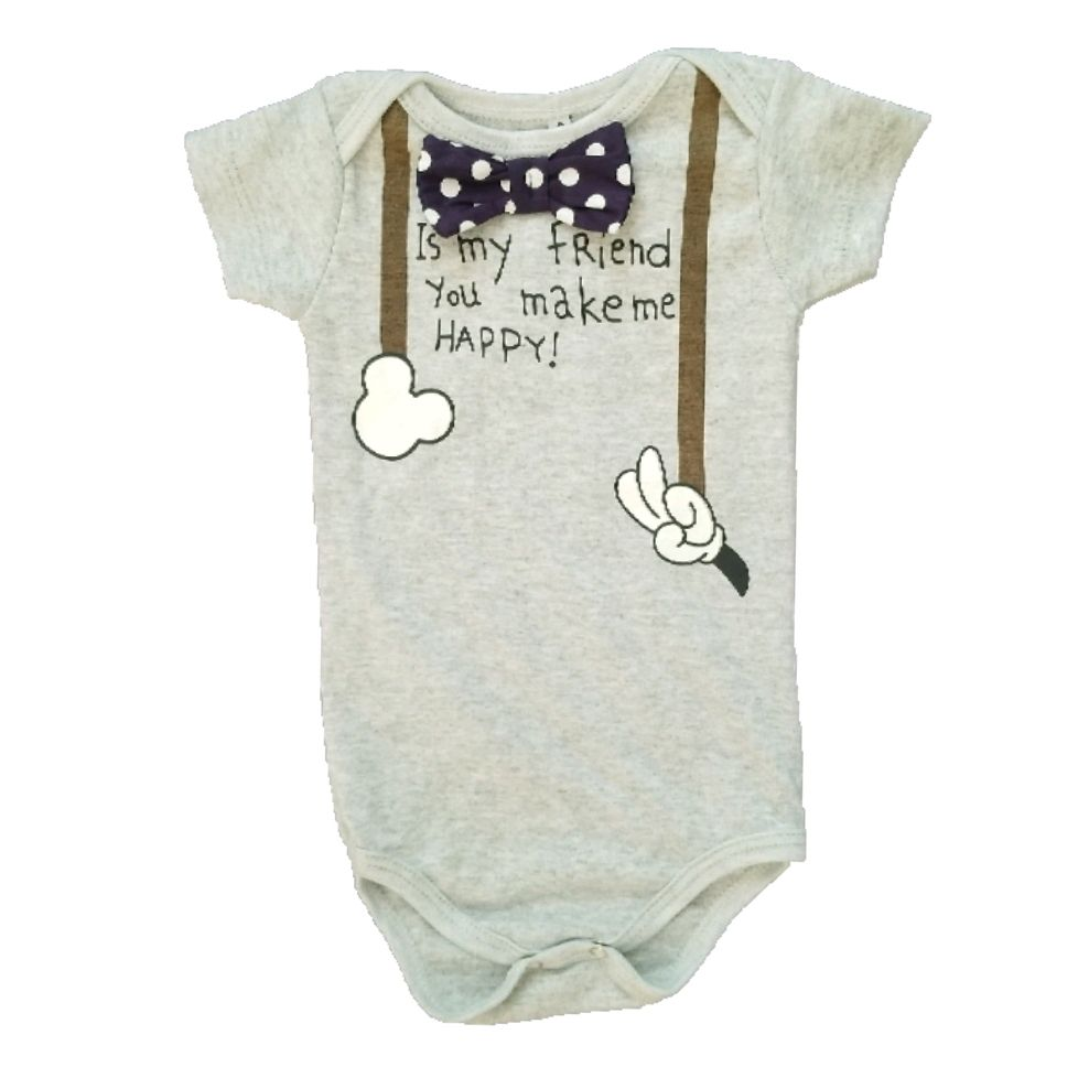 Body Mickey Gravata Bebê