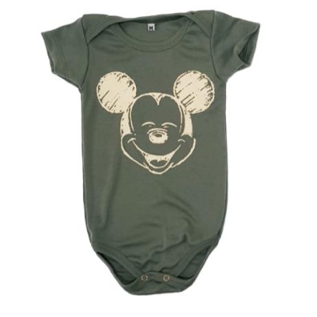 Body Mickey Verde Bebê