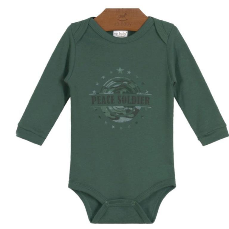 Body Militar Manga Longa Bebê