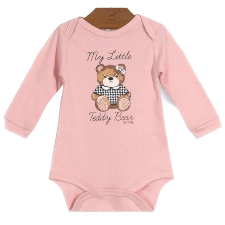 Body My Little Teddy Bear Manga Longa Bebê