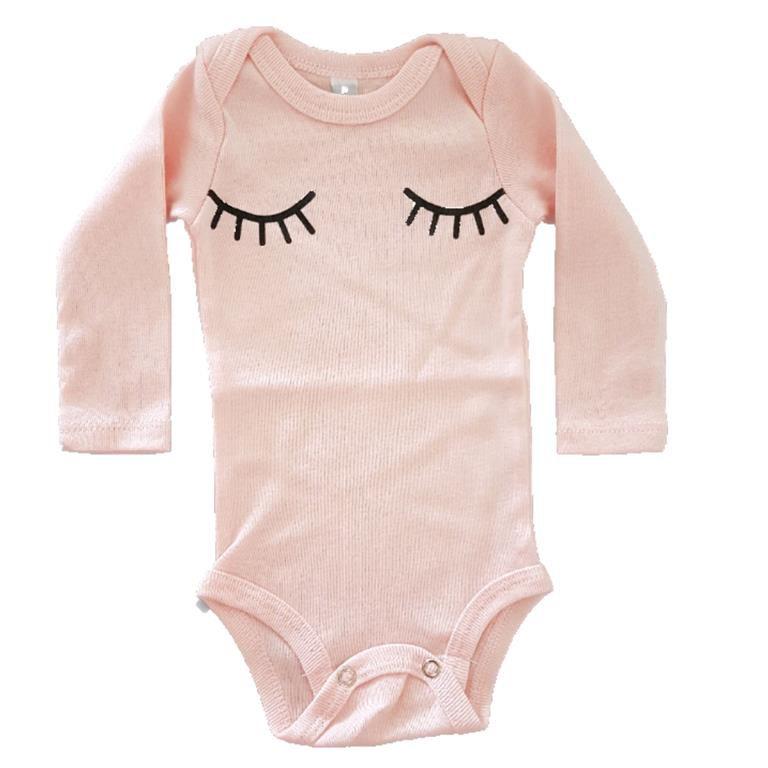 Body Olhinhos Manga Longa Bebê