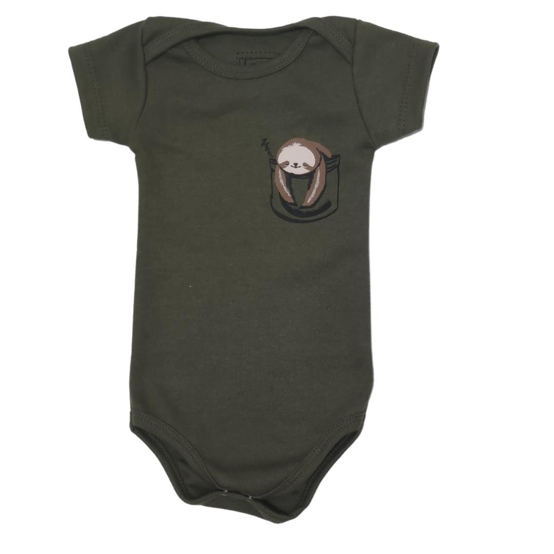 Body Preguiça Militar Bebê