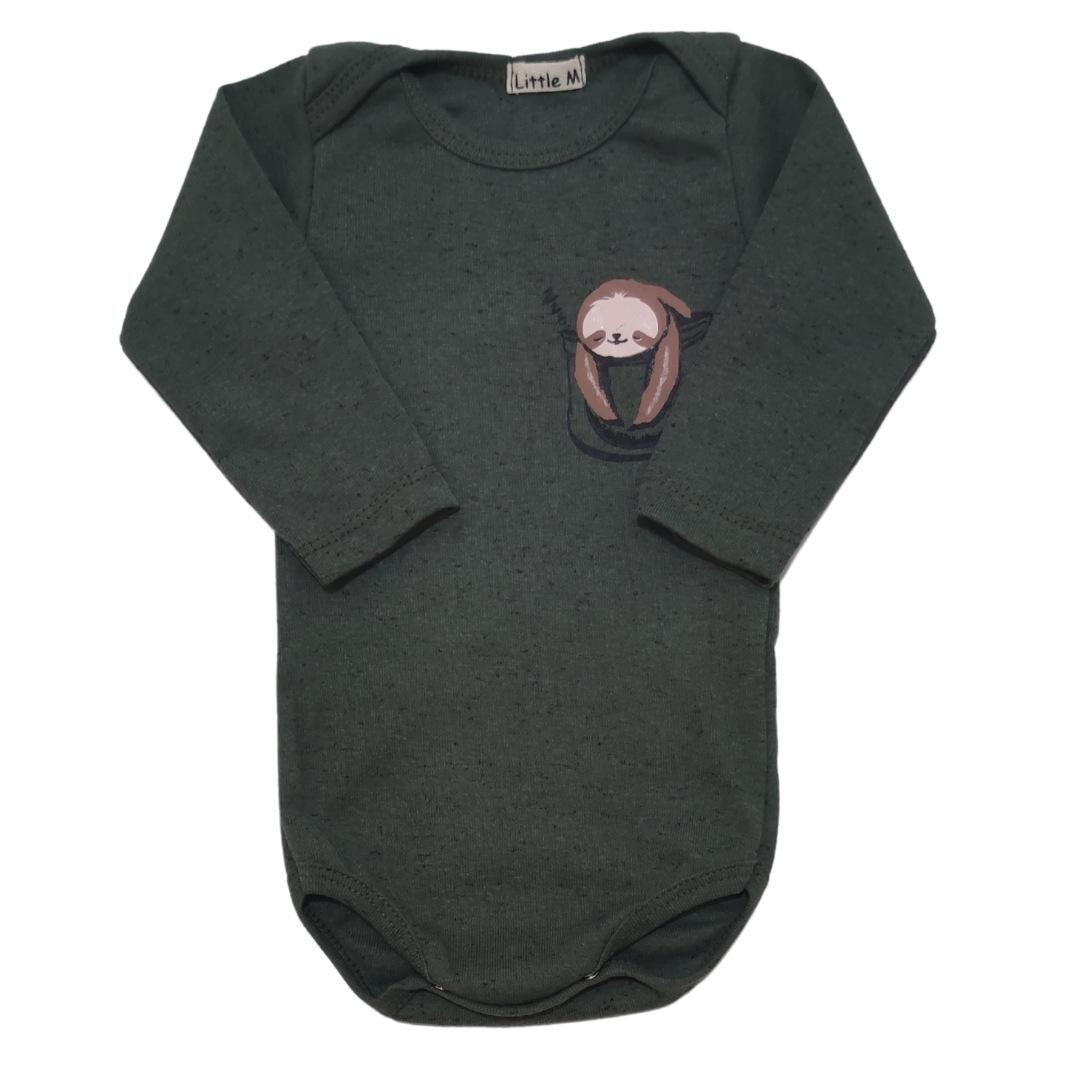 Body Preguicinha Manga Longa Bebê