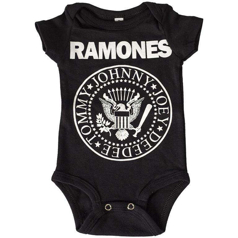 Body Ramones Preto Bebê
