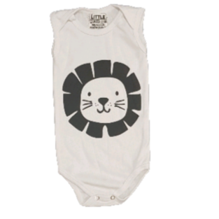Body Regata Lion Cute Bebê