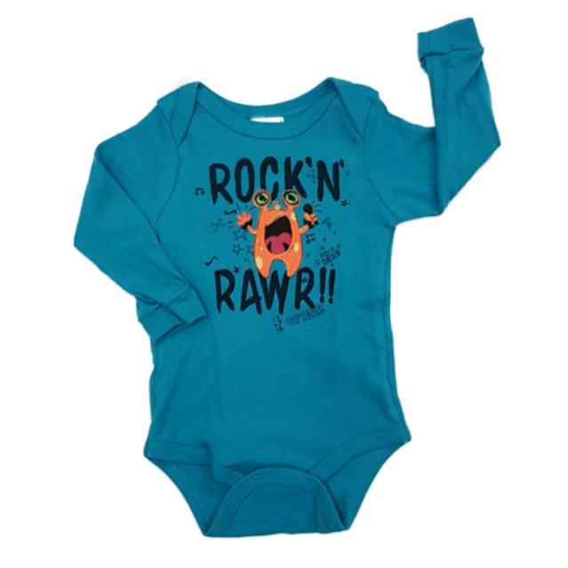 Body Rock'N Rawr Manga Longa Bebê