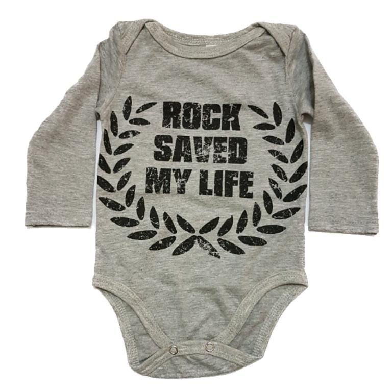 Body Rock Saved My Life Manga Longa Bebê