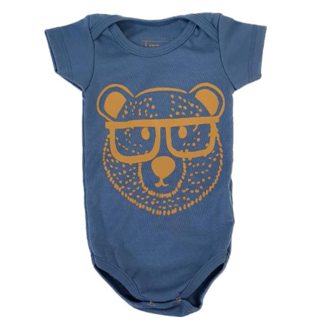 Body Urso Geek Azul Bebê