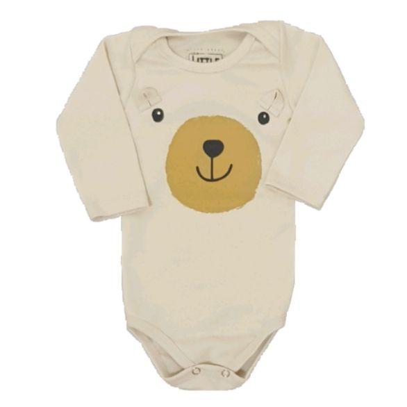 Body Urso Manga Longa Bebê