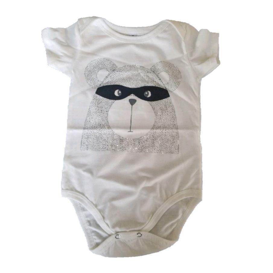Body Urso Mascarado Bebê