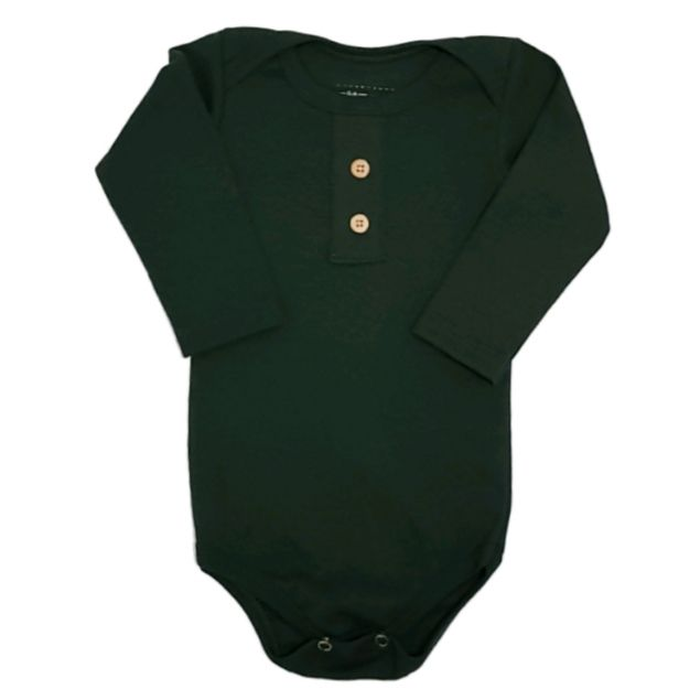 Body Verde Militar Manga Longa Bebê