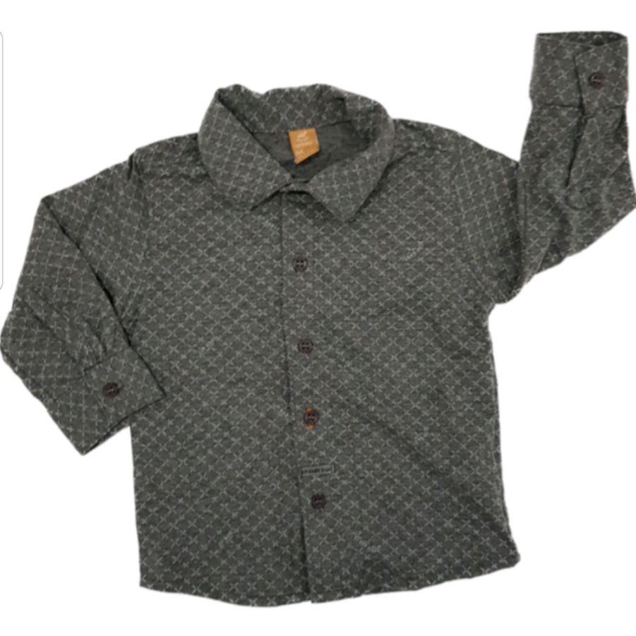 Camisa Polo Chumbo Manga Longa em Malha