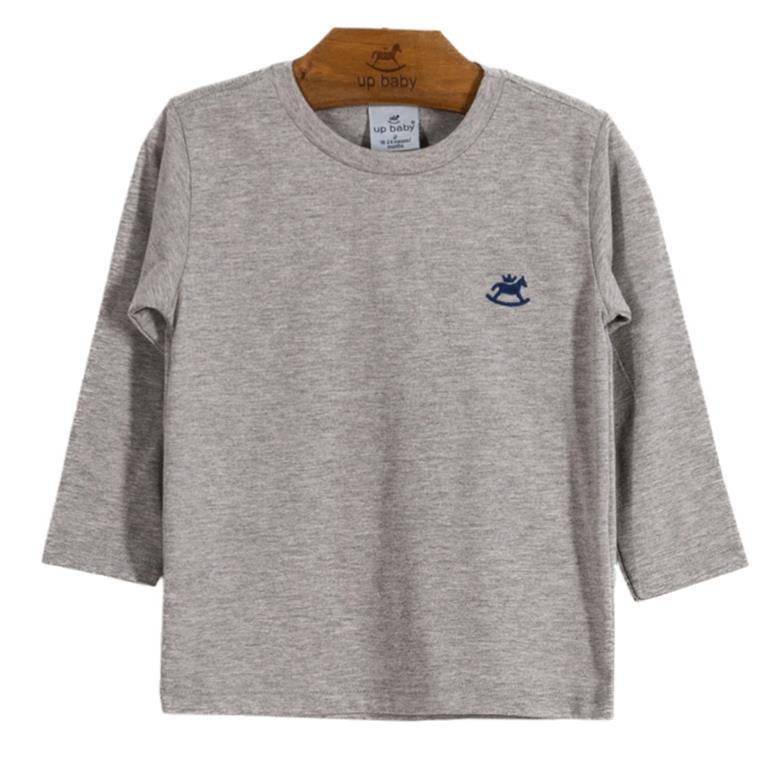 Camiseta Basic Mescla Manga longa