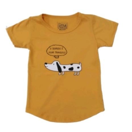 Camiseta Dog Mostarda
