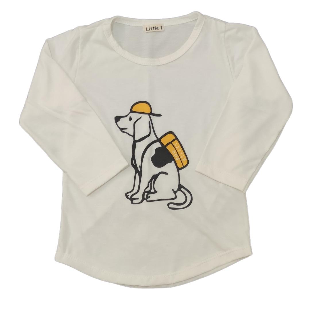 Camiseta Little Dog Manga Longa