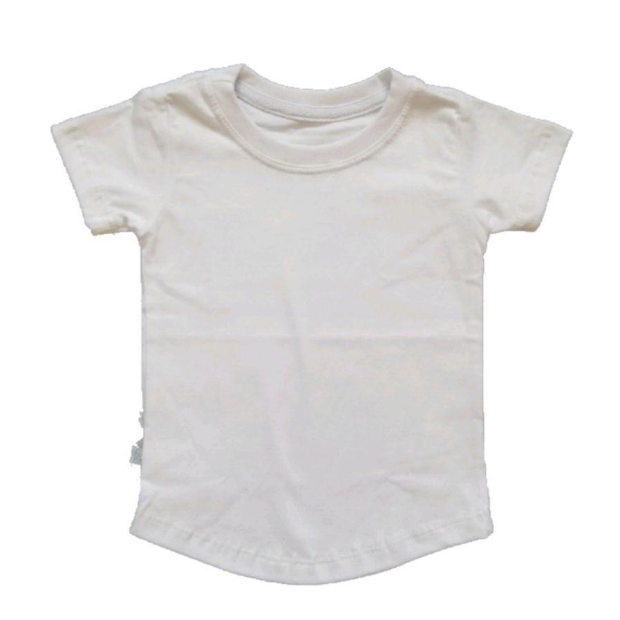Camiseta Long Branca Básica