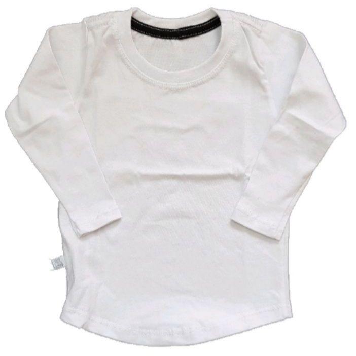 Camiseta Long Branca Manga Longa