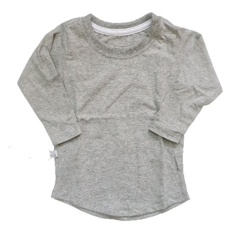 Camiseta Long Mescla Manga Longa