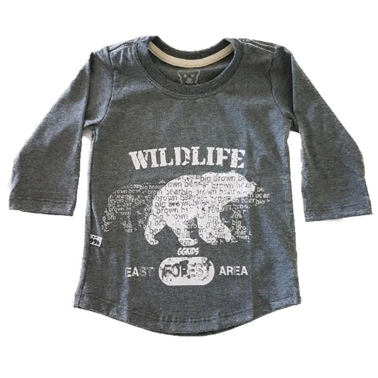 Camiseta Long WildLife Manga Longa