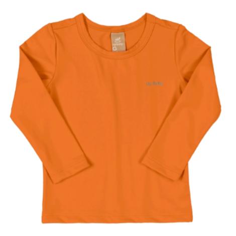 Camiseta Manga Longa Proteção UV Laranja Vibrante