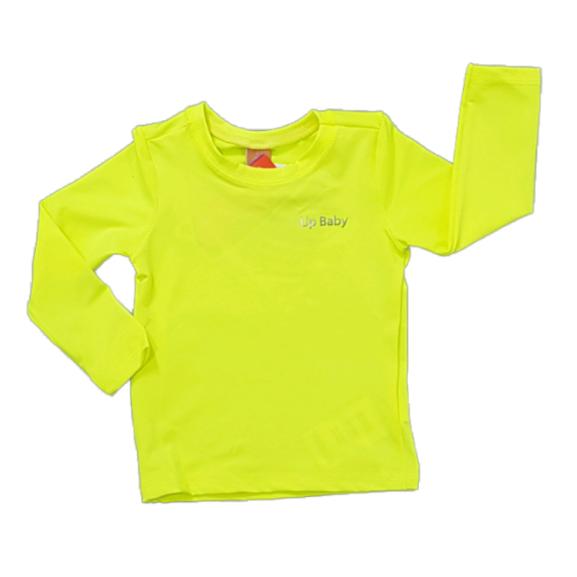 Camiseta Manga Longa Proteção UV Neon