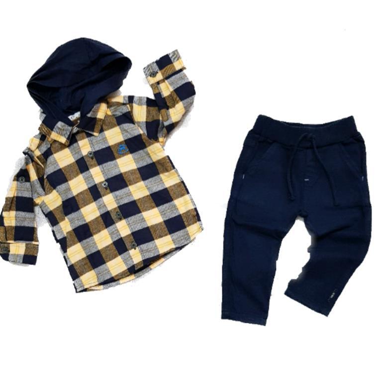 Conjunto Camisa Flanelada e Calça